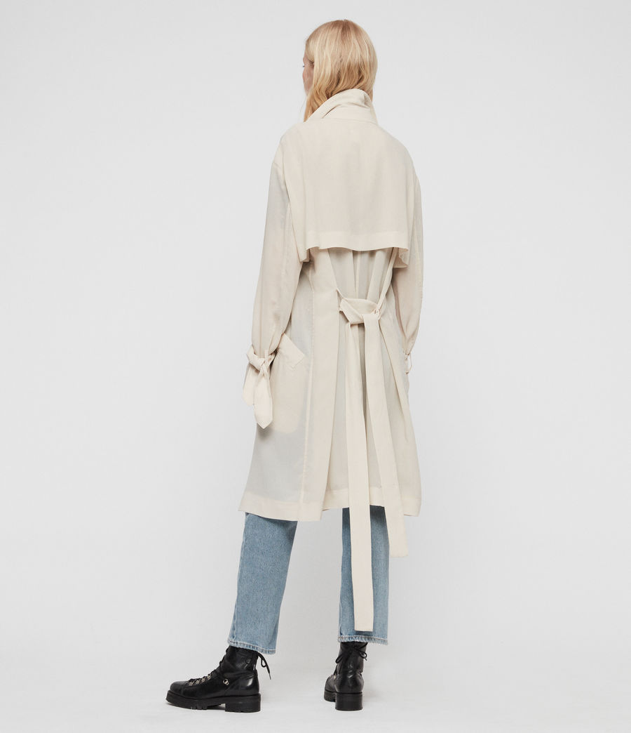 Women's Bria Trench Coat (oyster_white) - Image 7