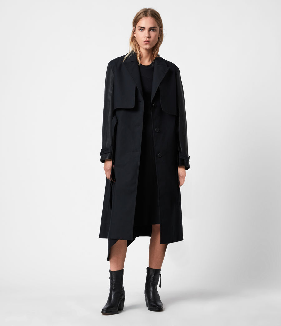 Womens Cade 2-In-1 Trench Coat (black) - Image 9