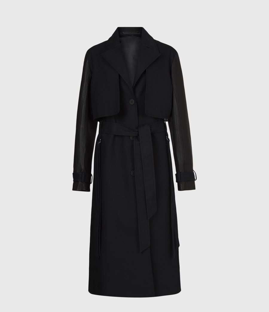 Womens Cade 2-In-1 Trench Coat (black) - Image 2