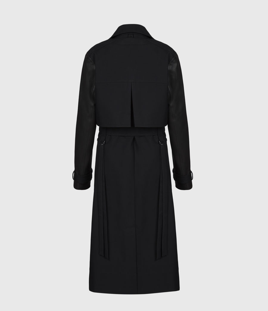Womens Cade 2-In-1 Trench Coat (black) - Image 3