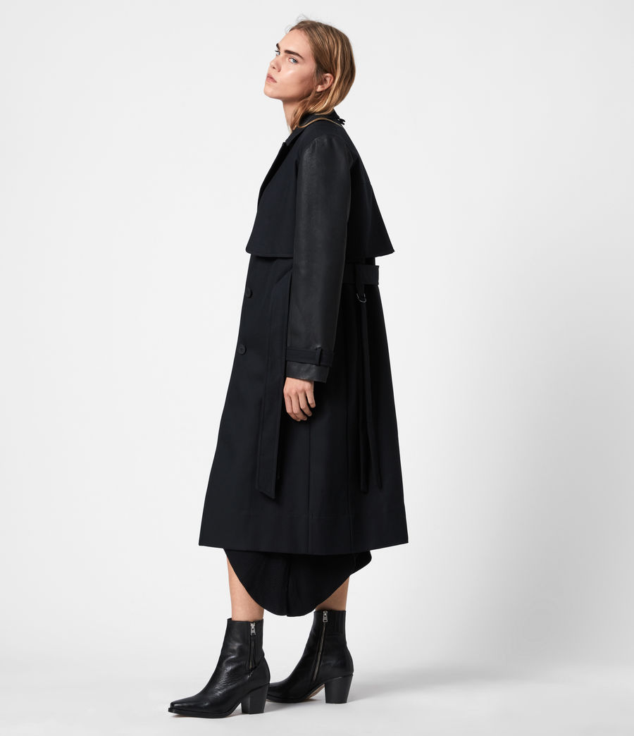 Womens Cade 2-In-1 Trench Coat (black) - Image 5