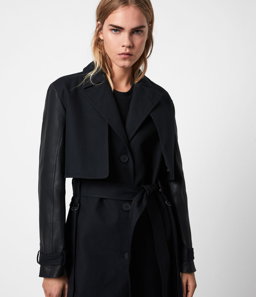 Womens Cade 2-In-1 Trench Coat (black) - Image 8