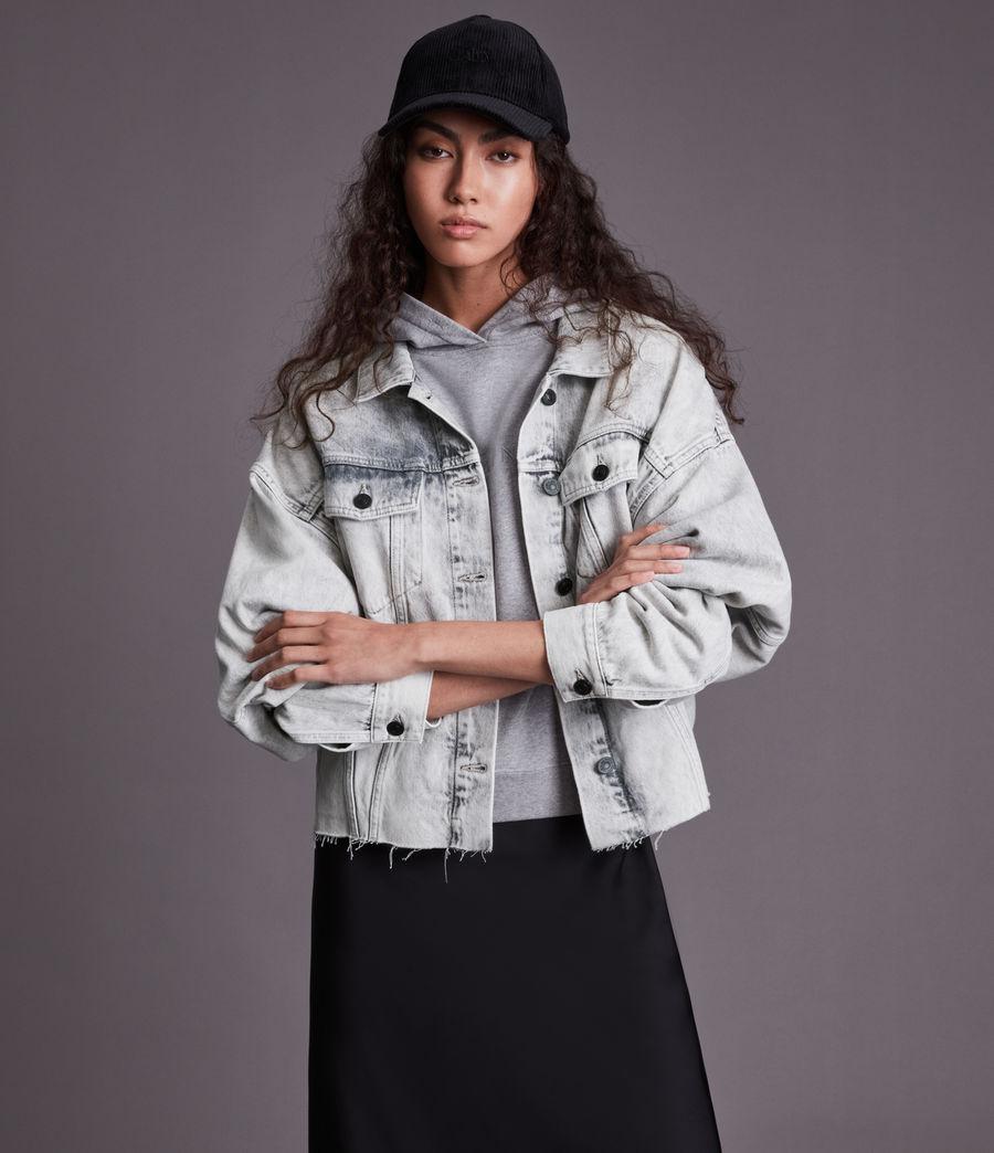 Womens Piper Denim Jacket (snow_wash_grey) - Image 1