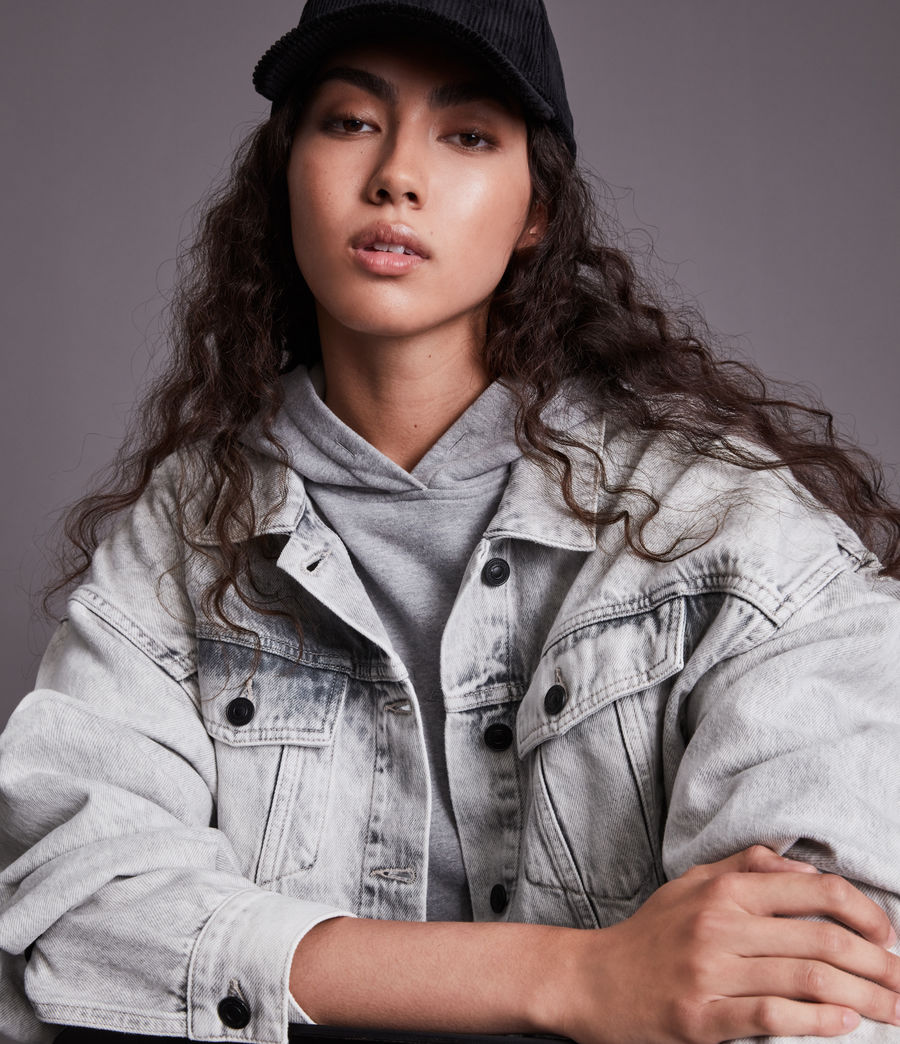 Womens Piper Denim Jacket (snow_wash_grey) - Image 2