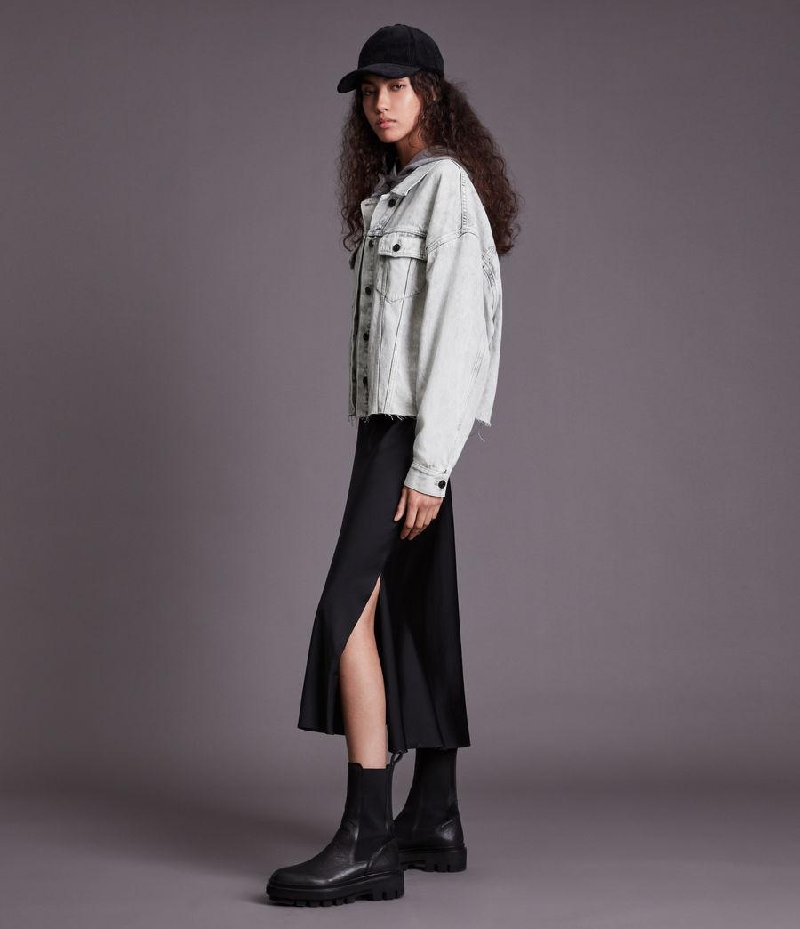 Womens Piper Denim Jacket (snow_wash_grey) - Image 3