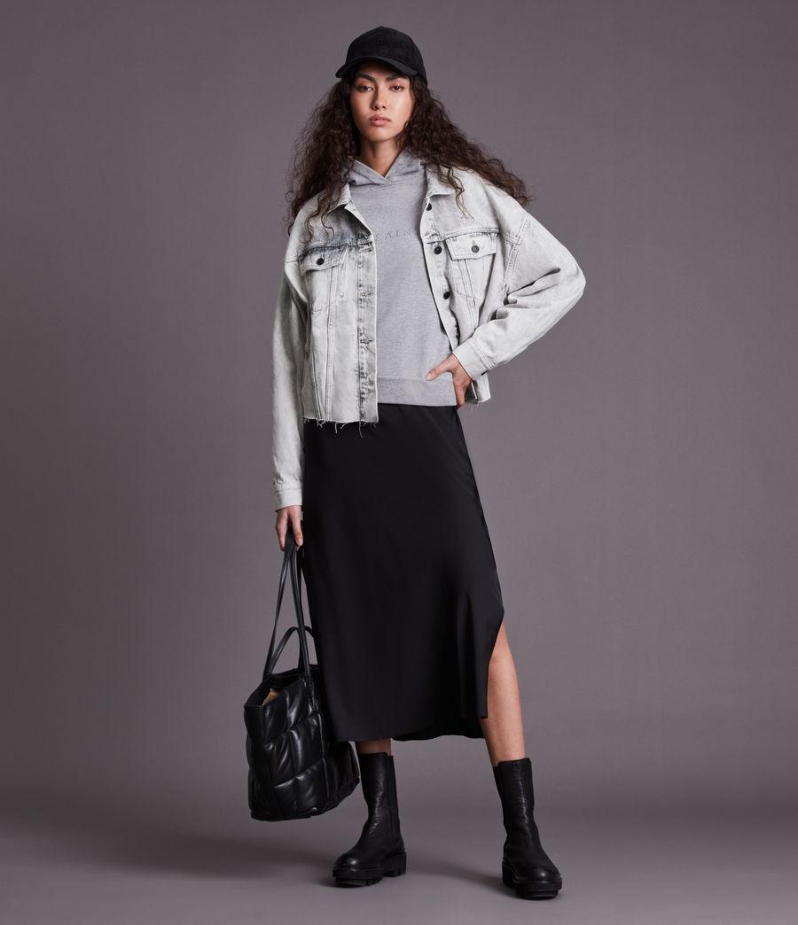 Womens Piper Denim Jacket (snow_wash_grey) - Image 4