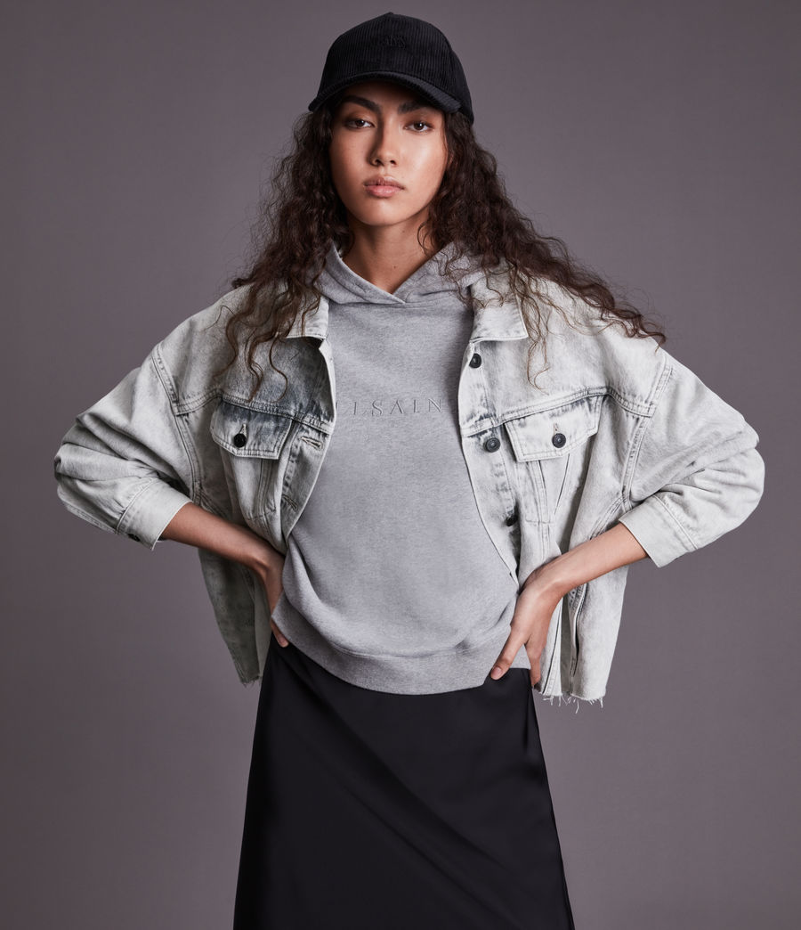 Womens Piper Denim Jacket (snow_wash_grey) - Image 5