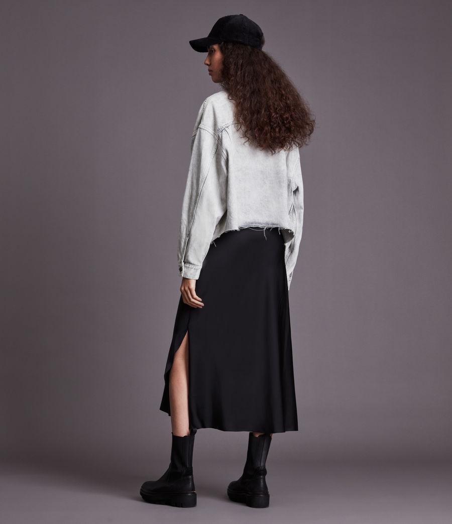 Womens Piper Denim Jacket (snow_wash_grey) - Image 6