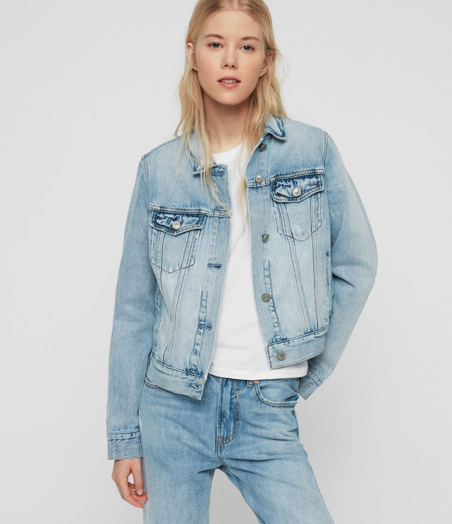 Womens Hay Denim Jacket (indigo_blue) - Image 1