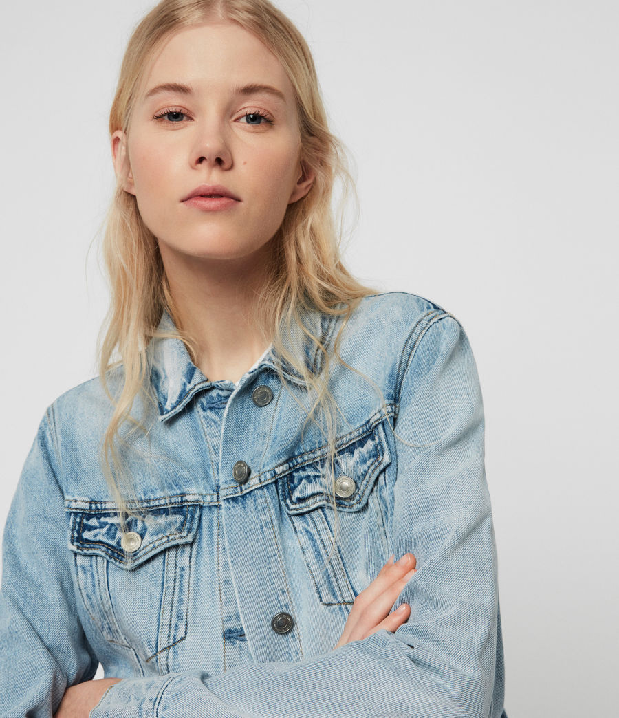 Women's Hay Denim Jacket (indigo_blue) - Image 2
