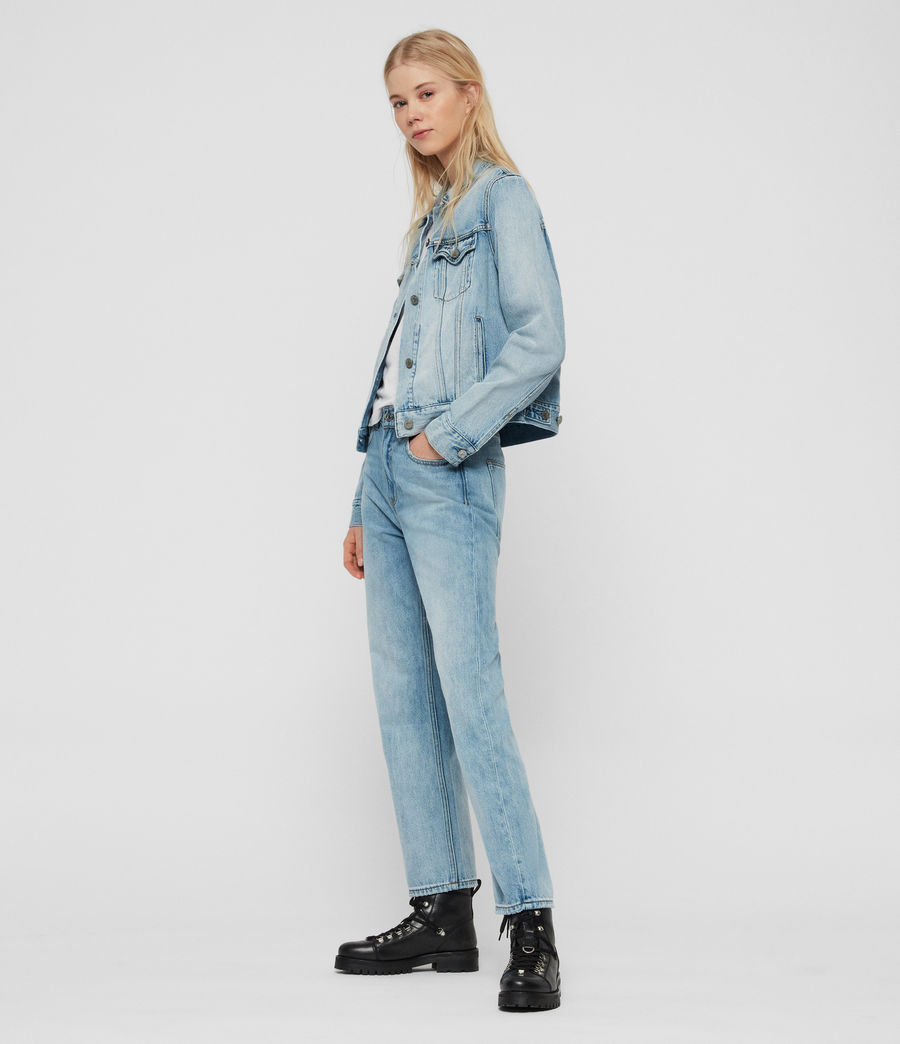 Women's Hay Denim Jacket (indigo_blue) - Image 3