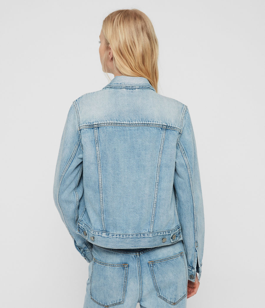 Womens Hay Denim Jacket (indigo_blue) - Image 6