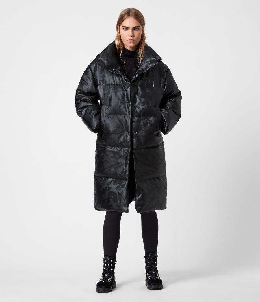Women's Lexie Ramskull Puffer Coat (black) - Image 1