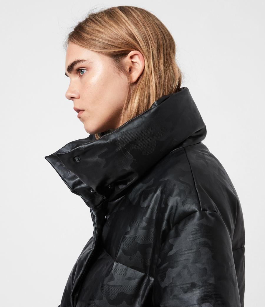Women's Lexie Ramskull Puffer Coat (black) - Image 4