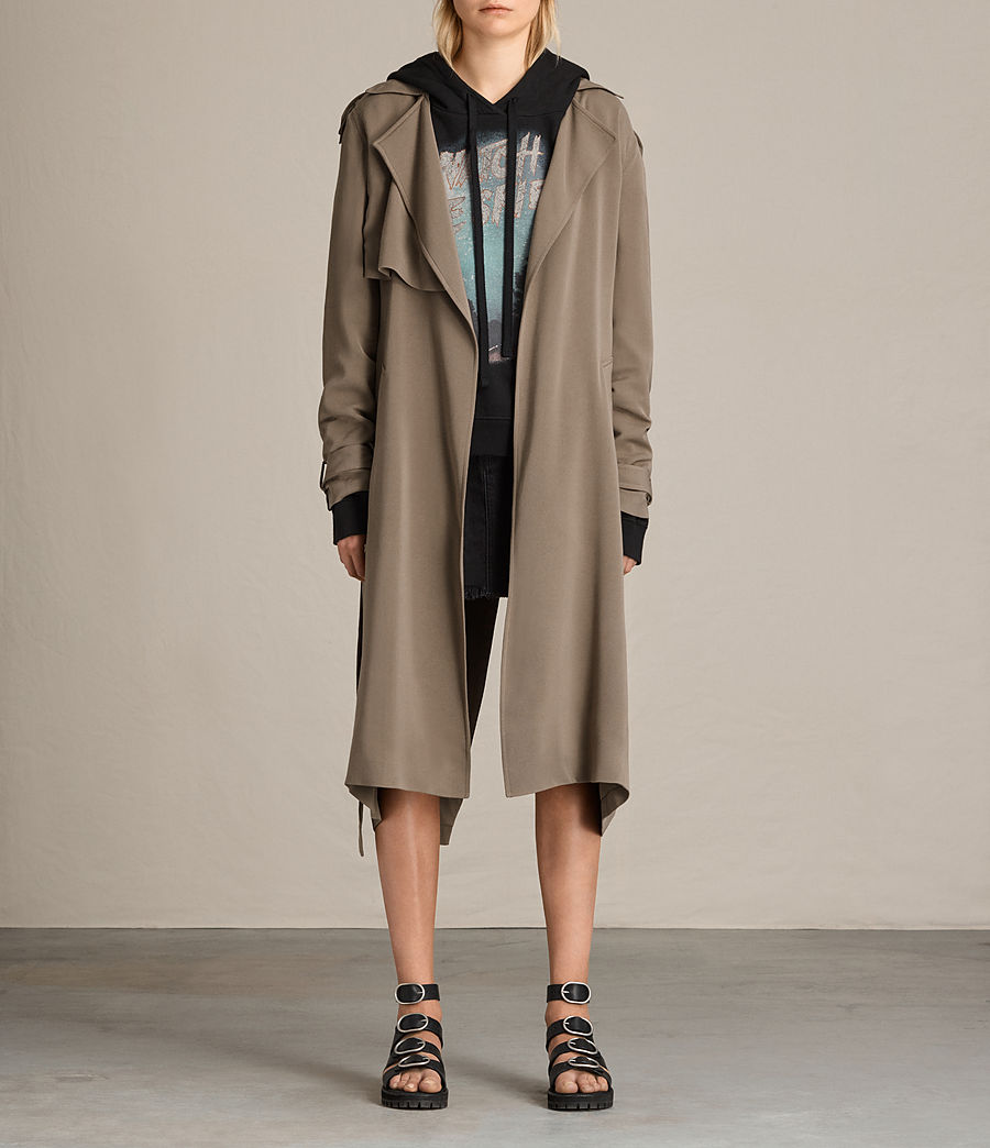 Donne Trench Amelie Drape (sage_green) - Image 1