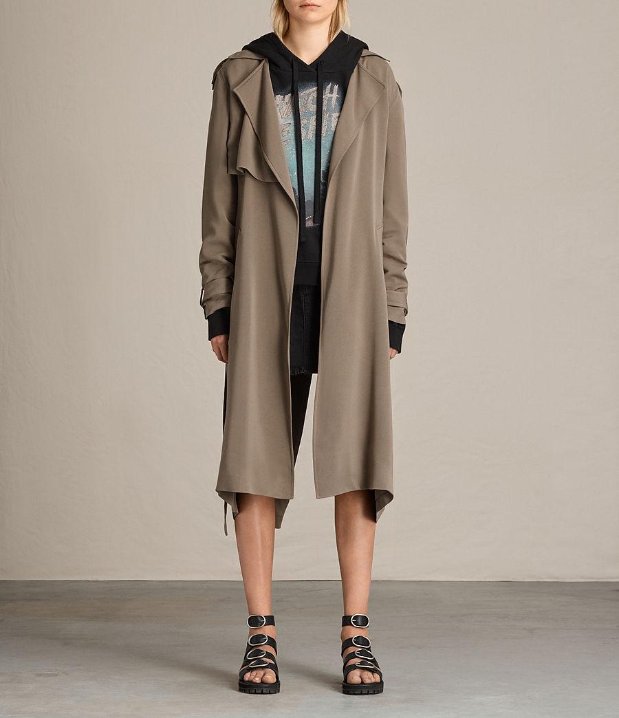 Femmes Trench-coat Amelie (sage_green) - Image 1
