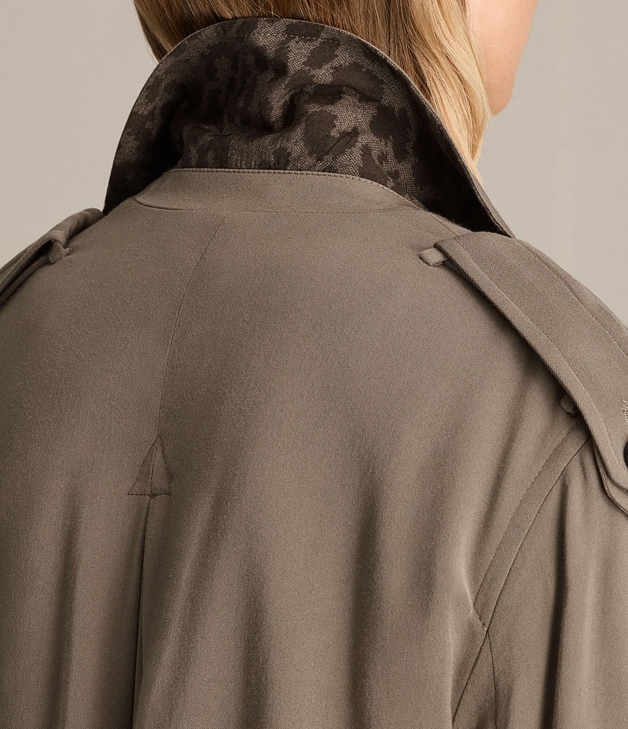 Donne Trench Amelie Drape (sage_green) - Image 2