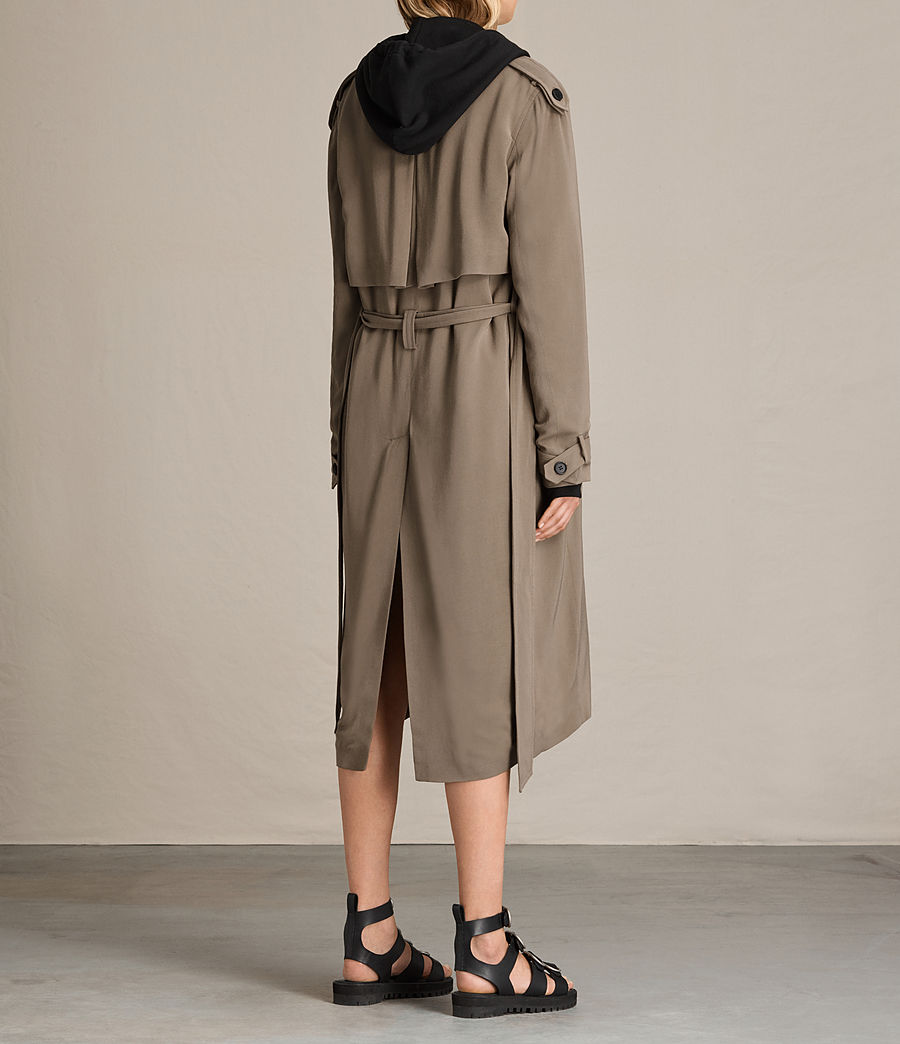 Donne Trench Amelie Drape (sage_green) - Image 5