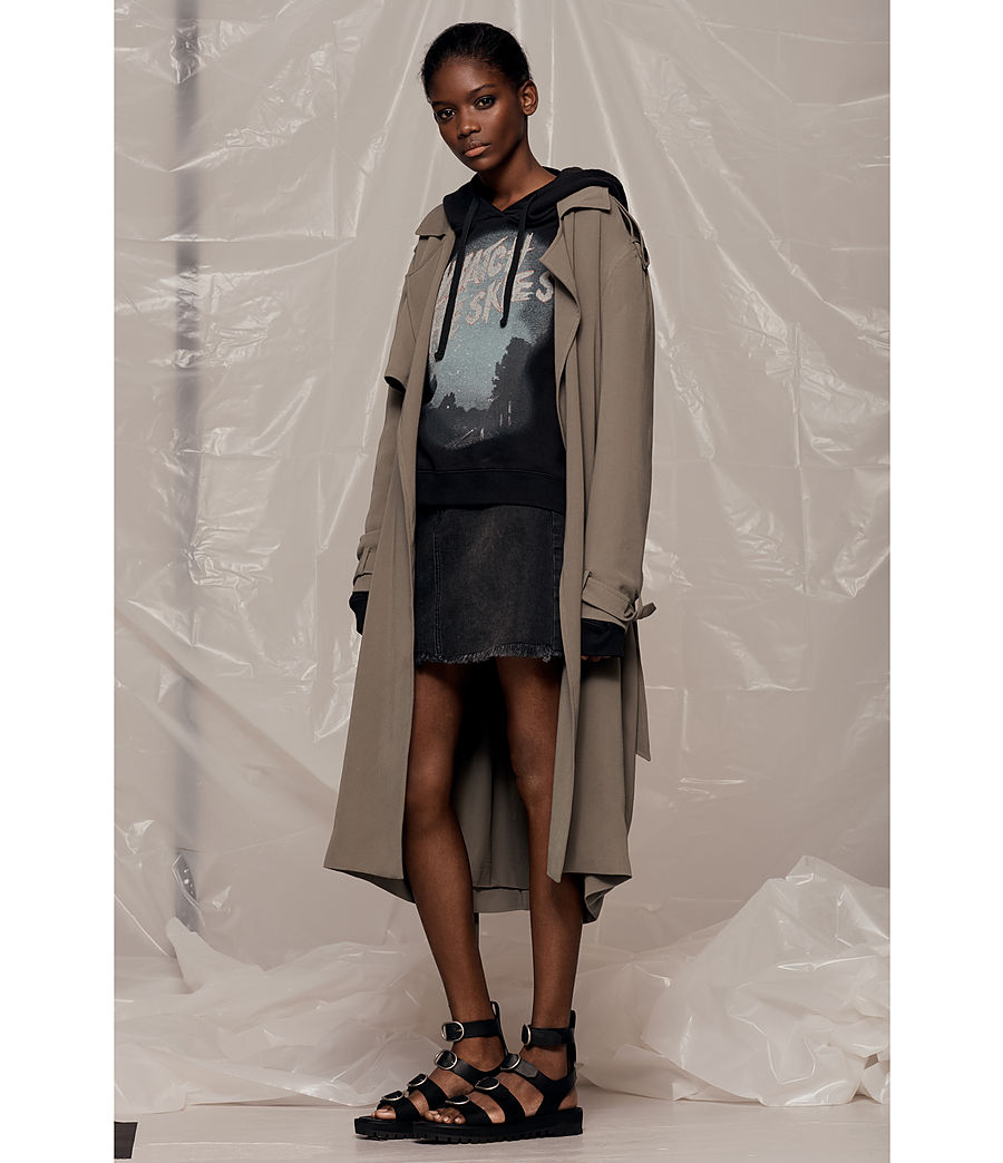 Donne Trench Amelie Drape (sage_green) - Image 6