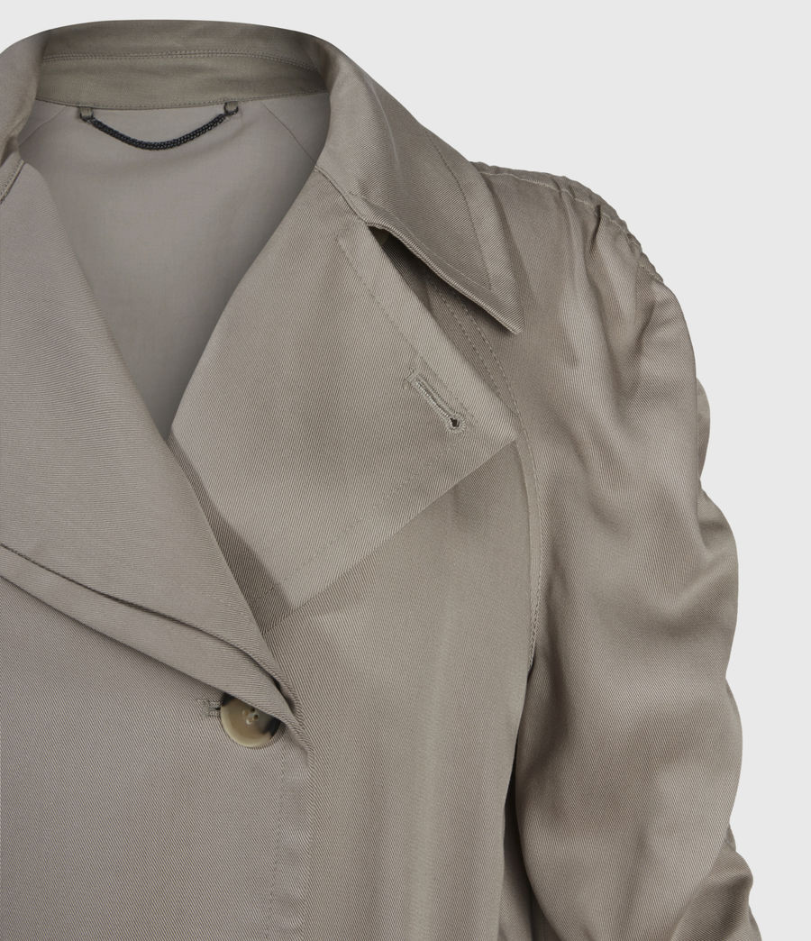 Damen Cecil Trench Coat (pebble_grey) - Image 3