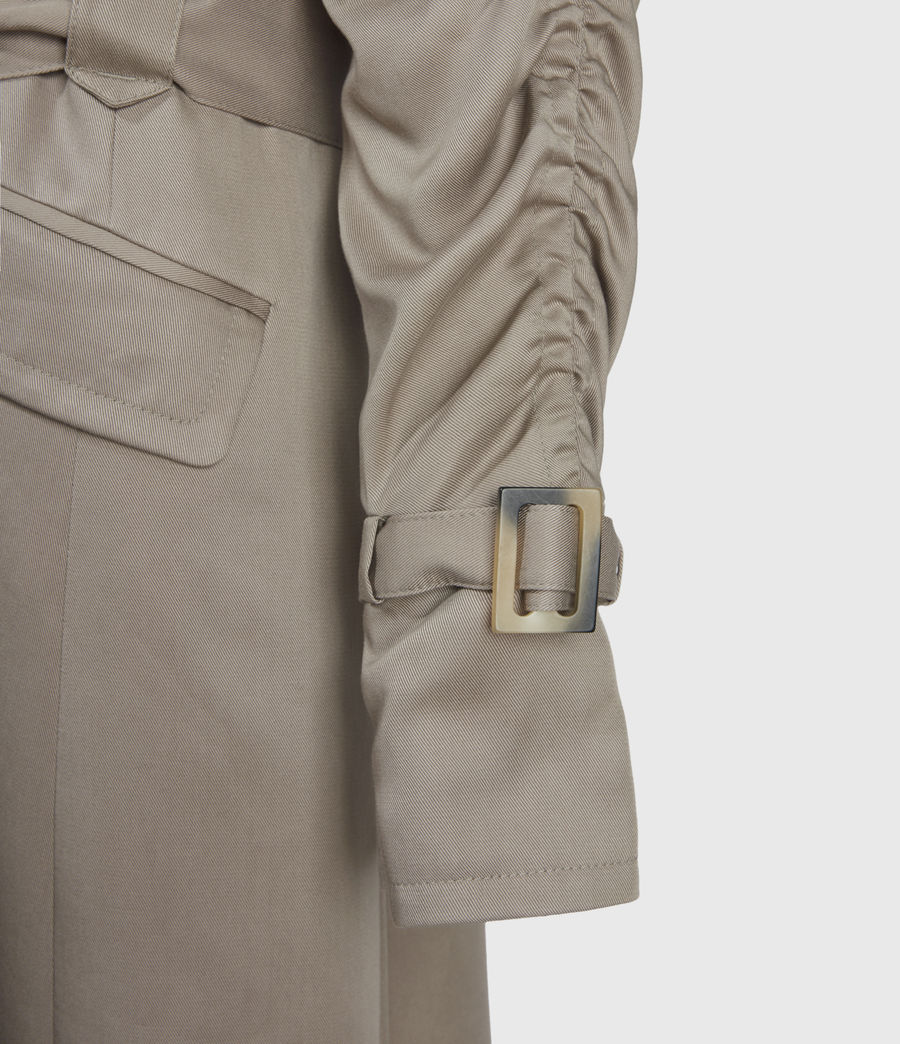 Damen Cecil Trench Coat (pebble_grey) - Image 4