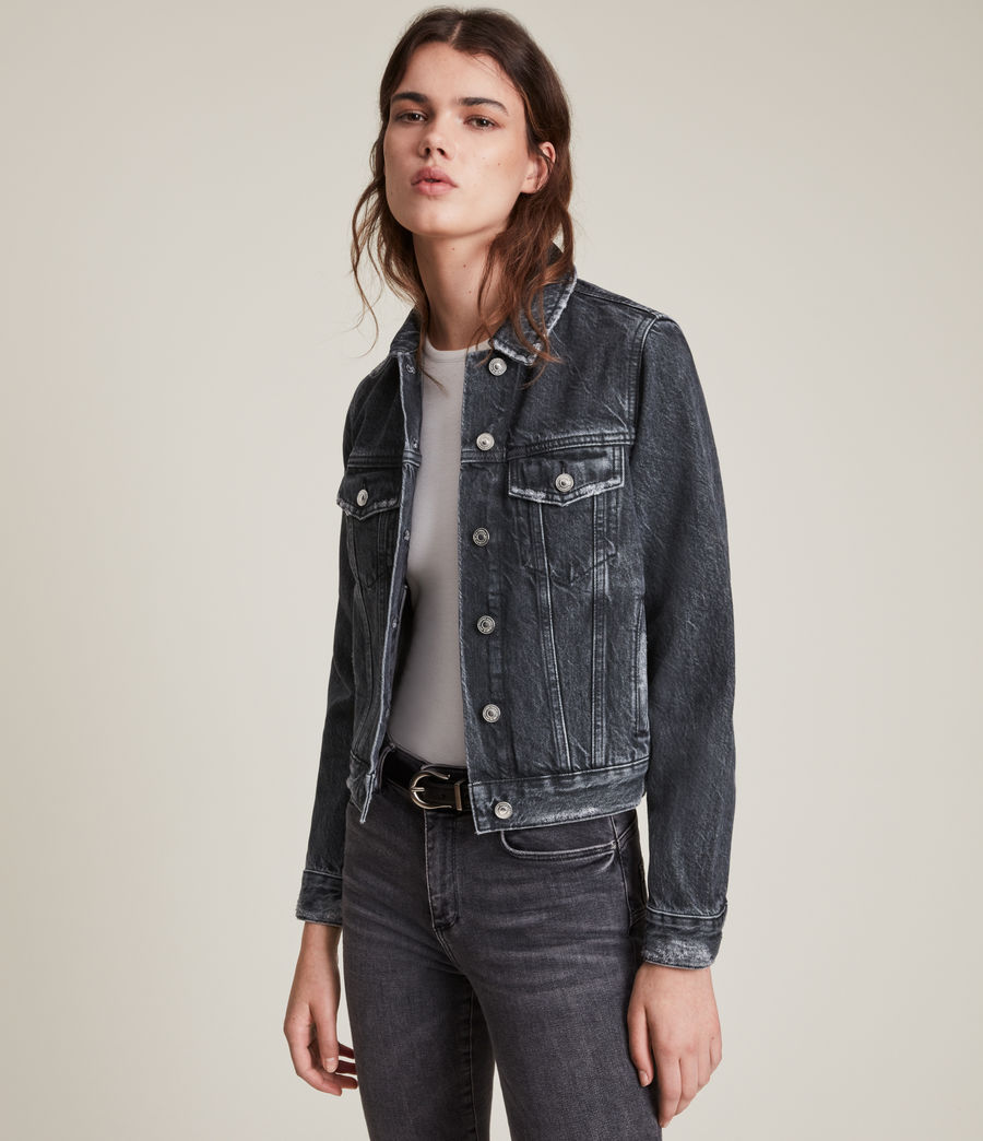 Women's Hay Denim Jacket (washed_black) - Image 1