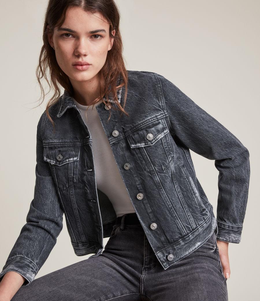 Women's Hay Denim Jacket (washed_black) - Image 2