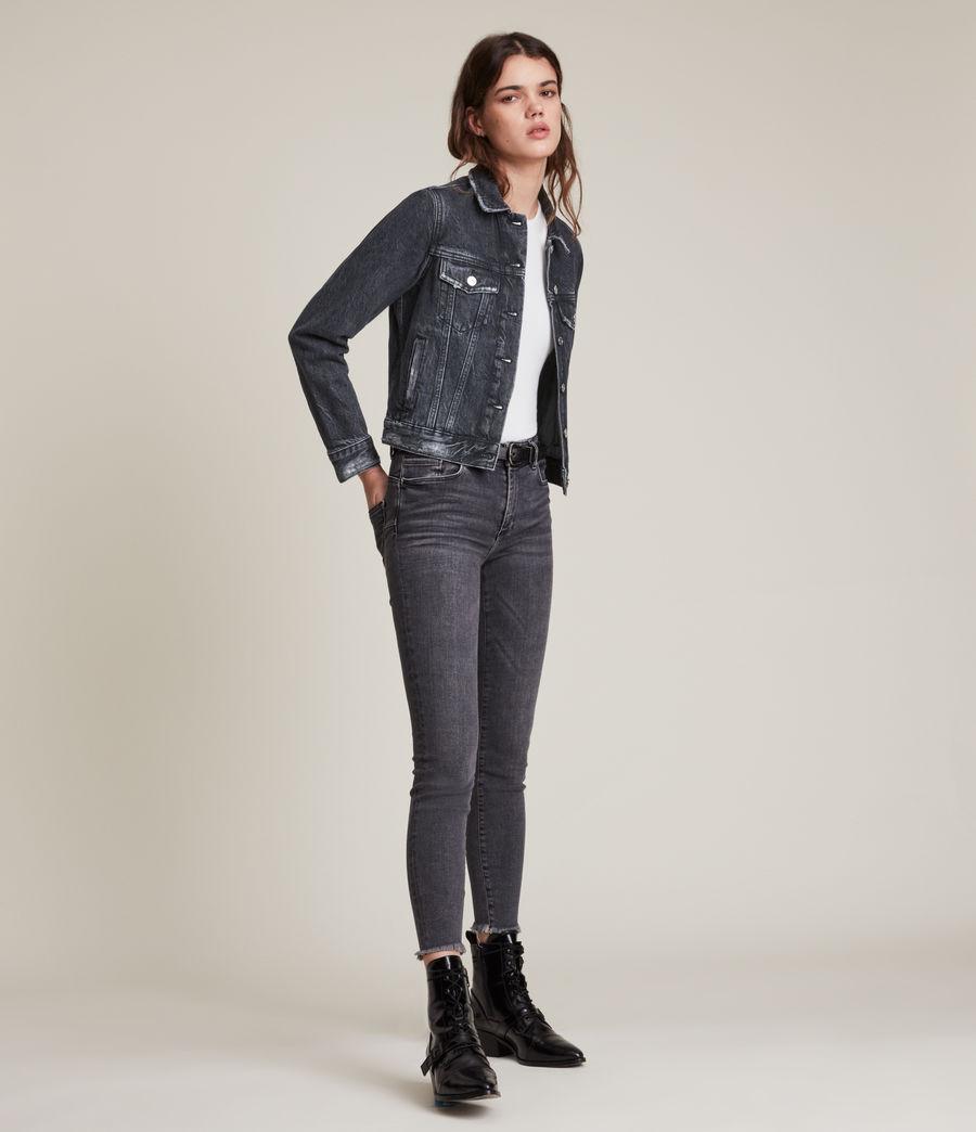 Women's Hay Denim Jacket (washed_black) - Image 3
