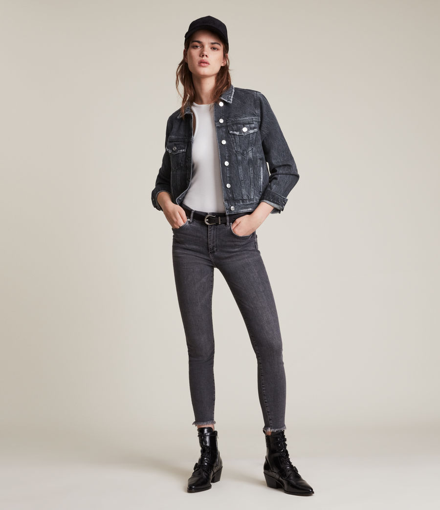 Women's Hay Denim Jacket (washed_black) - Image 4