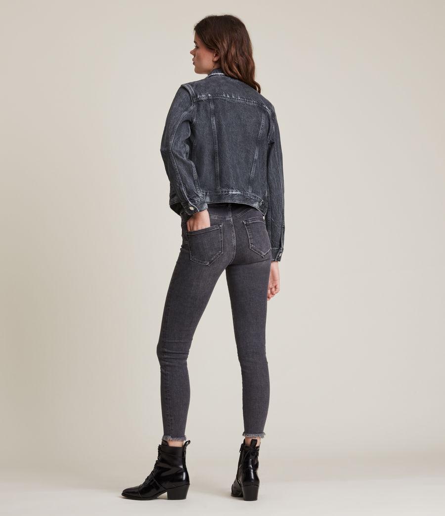 Women's Hay Denim Jacket (washed_black) - Image 5