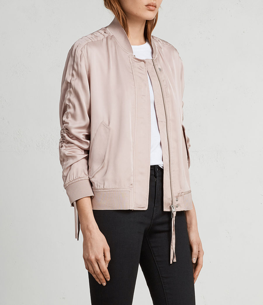Womens Ellis Bomber Jacket (quartz_pink) - Image 3