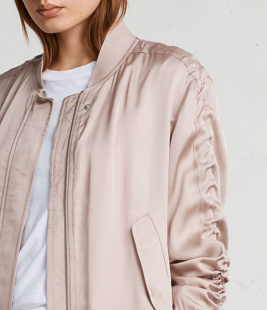 Womens Ellis Bomber Jacket (quartz_pink) - Image 4