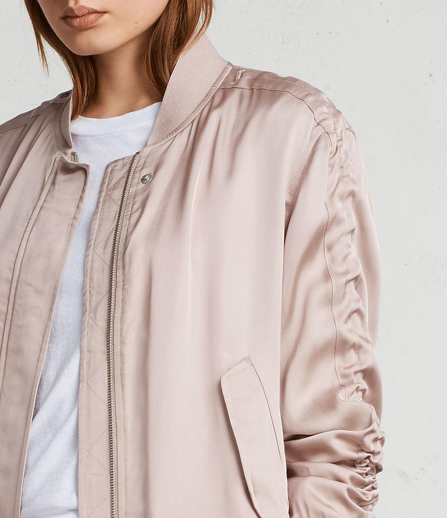 Women's Ellis Bomber Jacket (quartz_pink) - Image 4