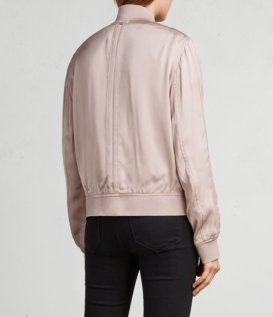 Womens Ellis Bomber Jacket (quartz_pink) - Image 5