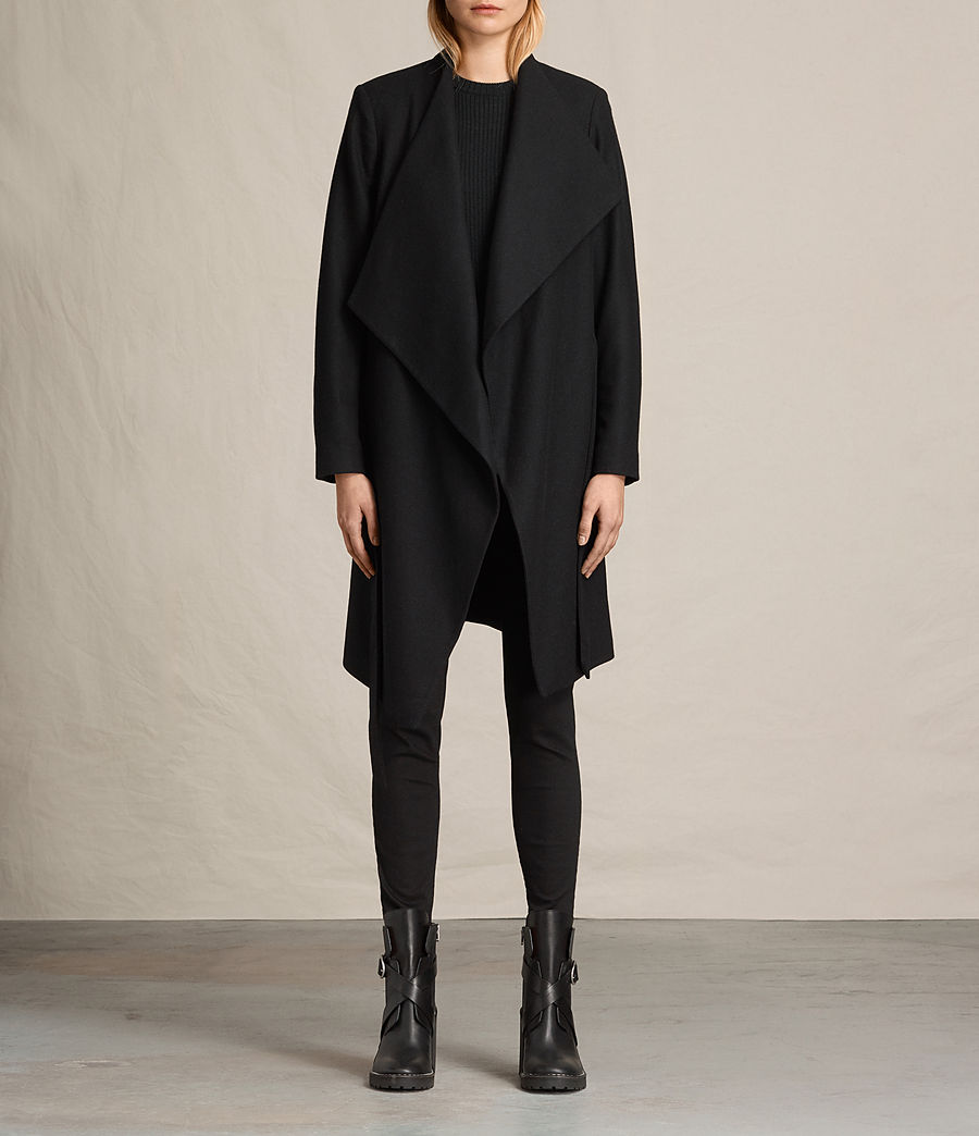 Women's Lora Coat (black) - Image 2