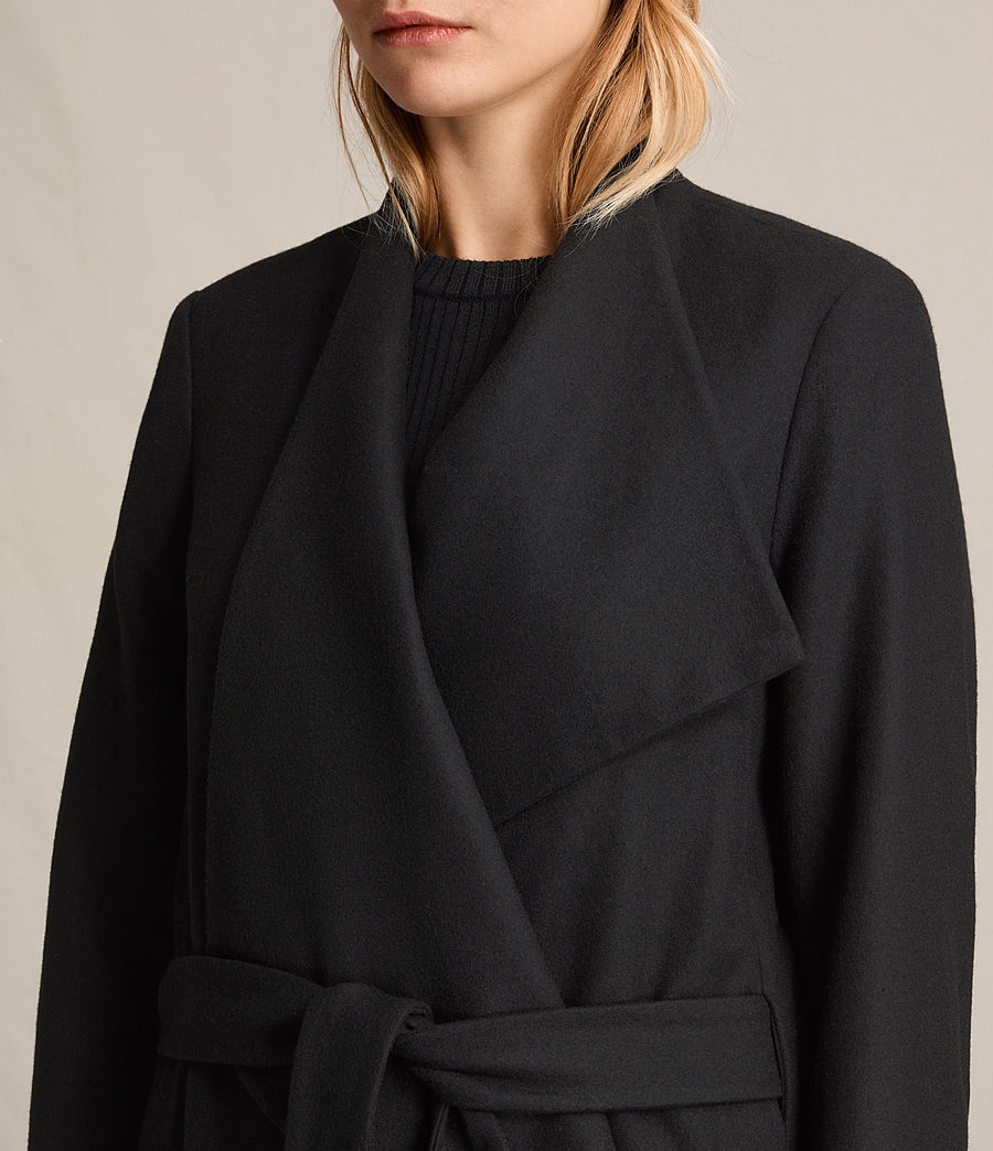 Women's Lora Coat (black) - Image 3