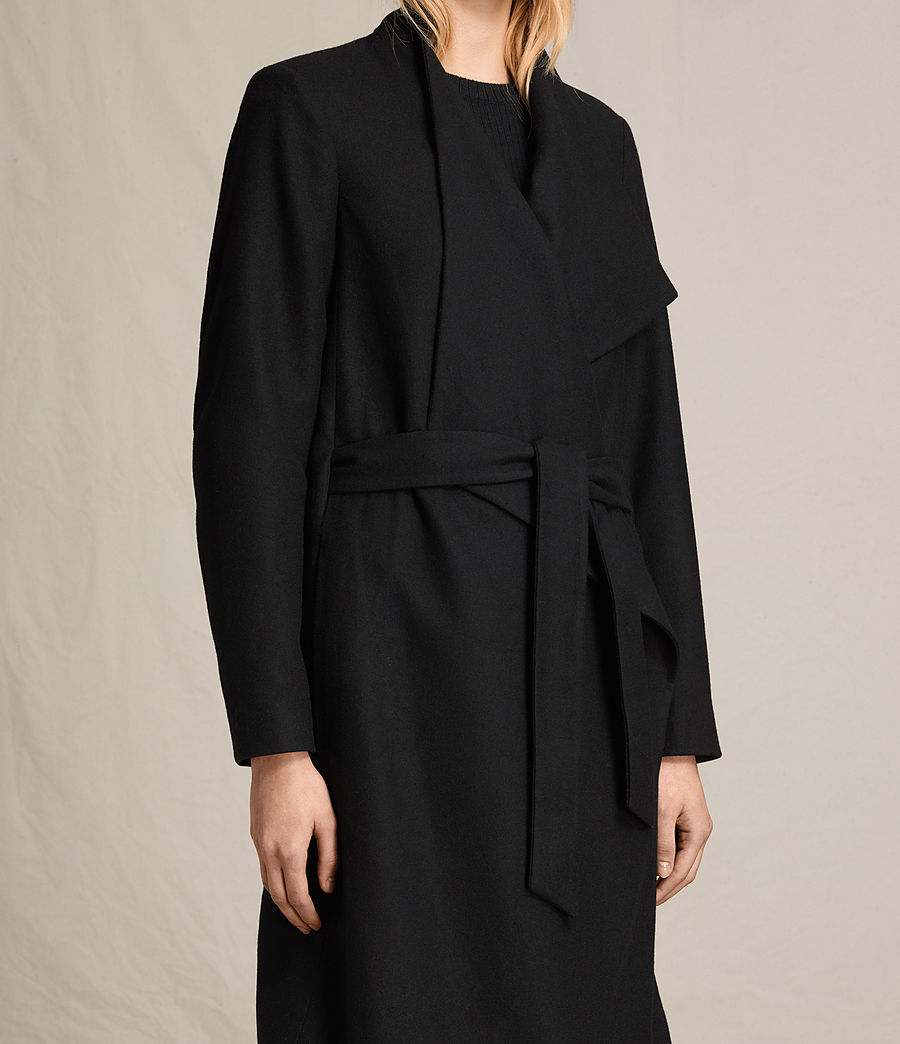 Women's Lora Coat (black) - Image 4