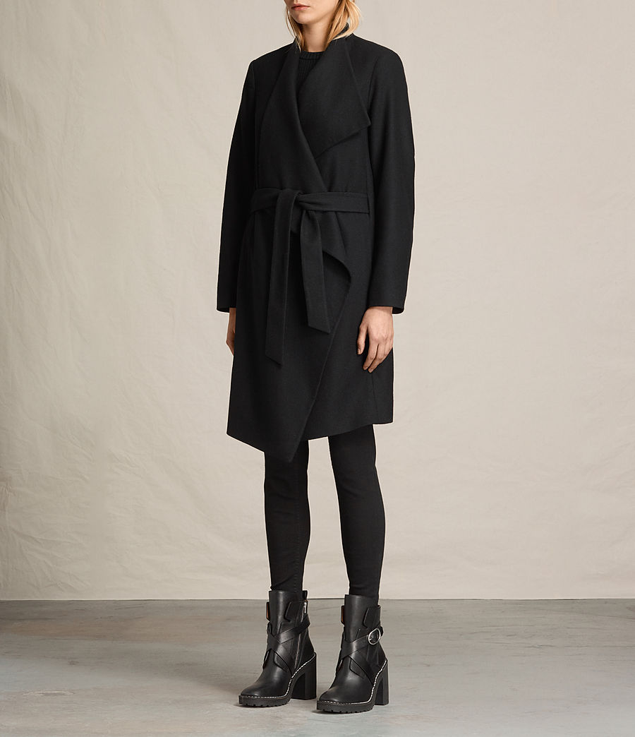 Women's Lora Coat (black) - Image 5
