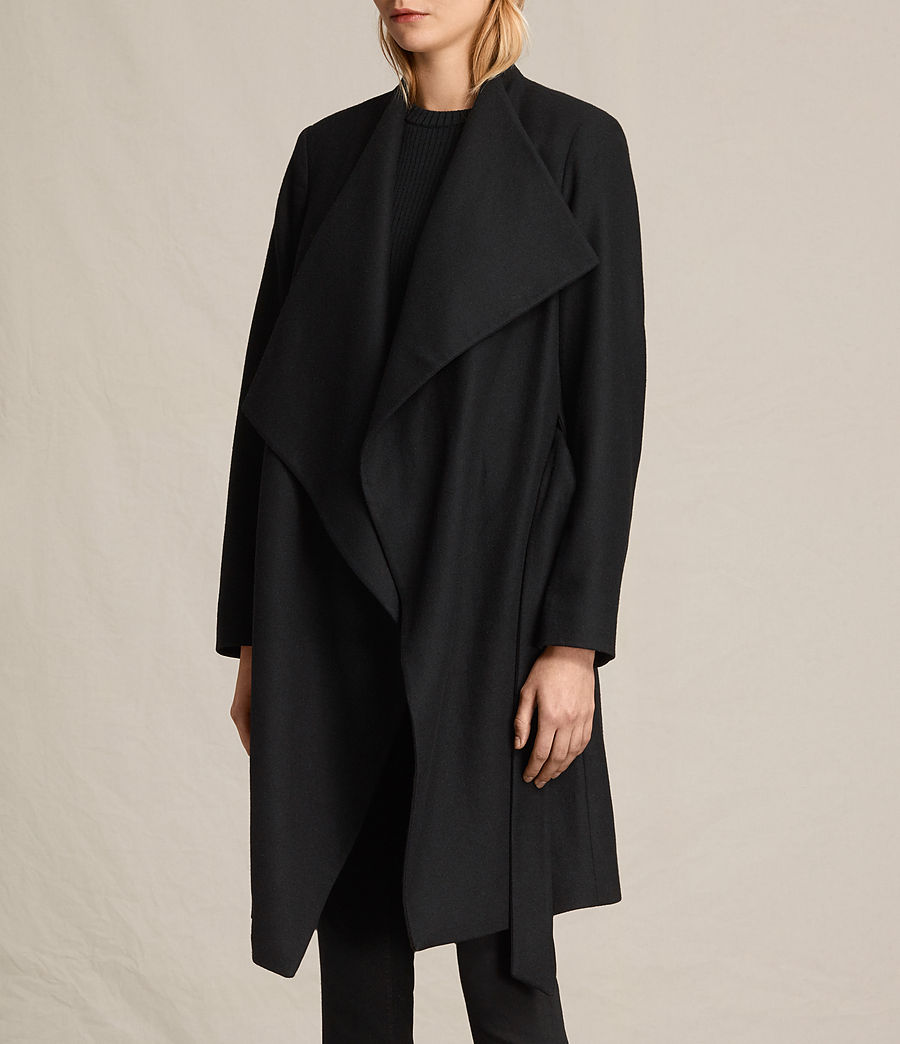 Women's Lora Coat (black) - Image 7