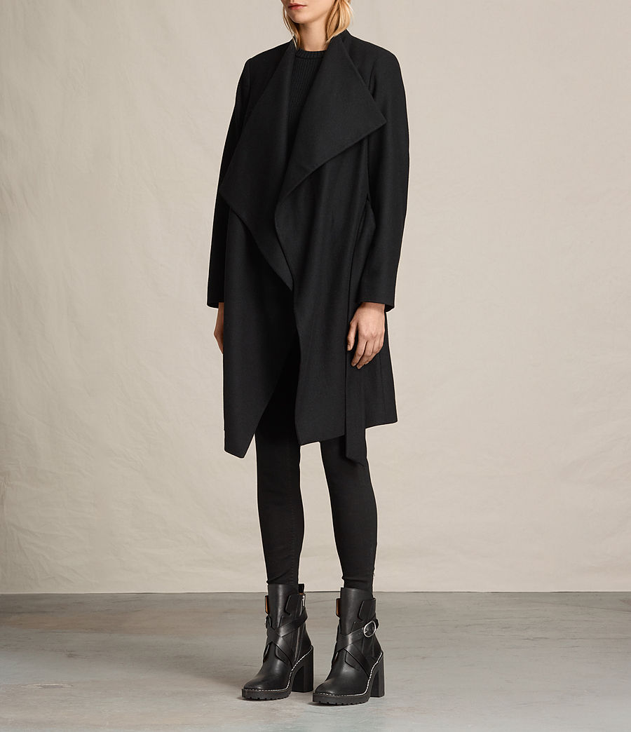 Women's Lora Coat (black) - Image 8