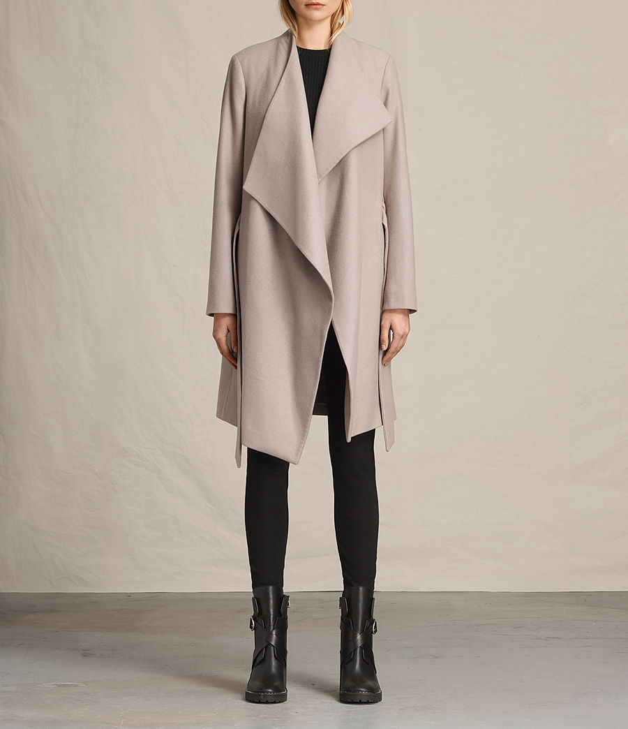 Womens Lora Coat (taupe) - Image 1