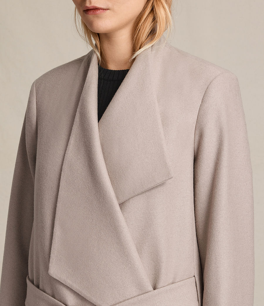 Womens Lora Coat (taupe) - Image 2
