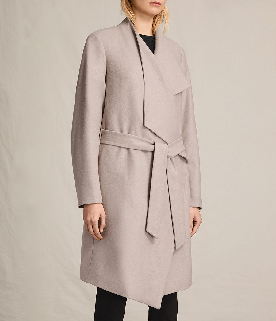 Womens Lora Coat (taupe) - Image 3