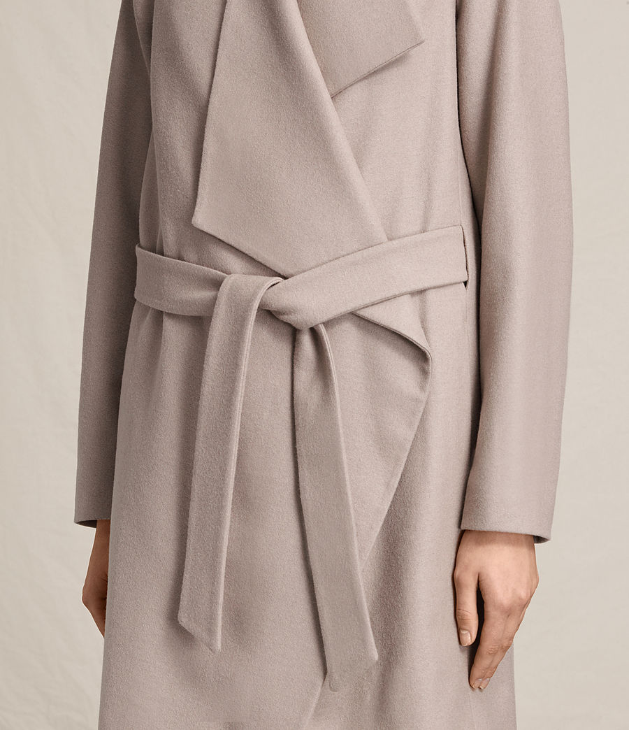 Womens Lora Coat (taupe) - Image 5