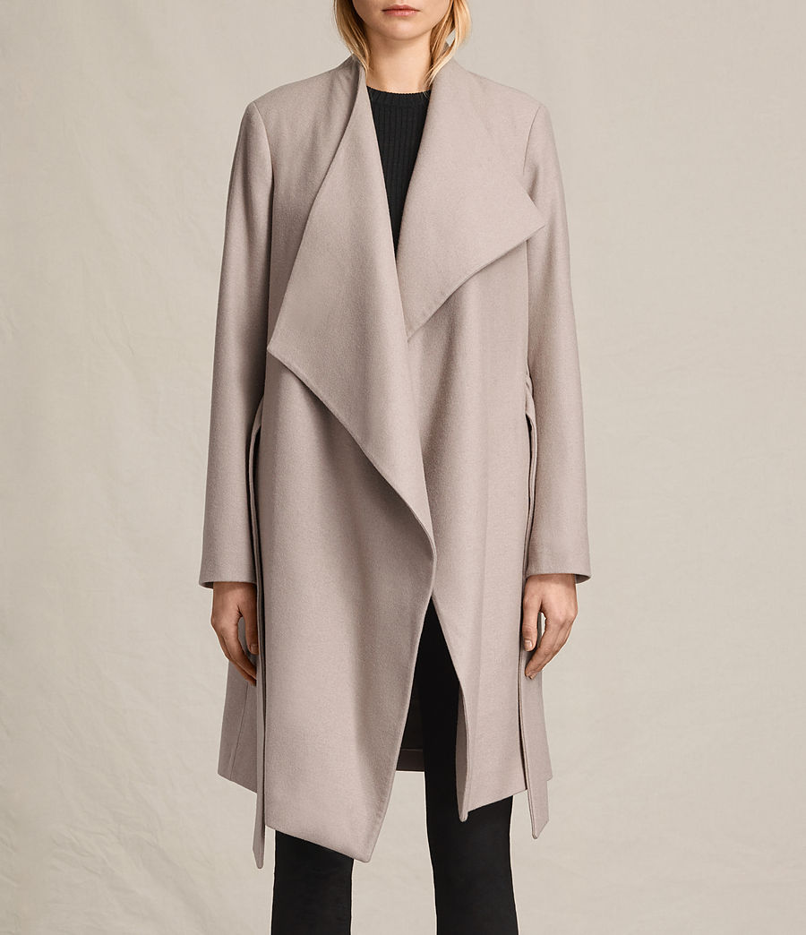 Womens Lora Coat (taupe) - Image 6