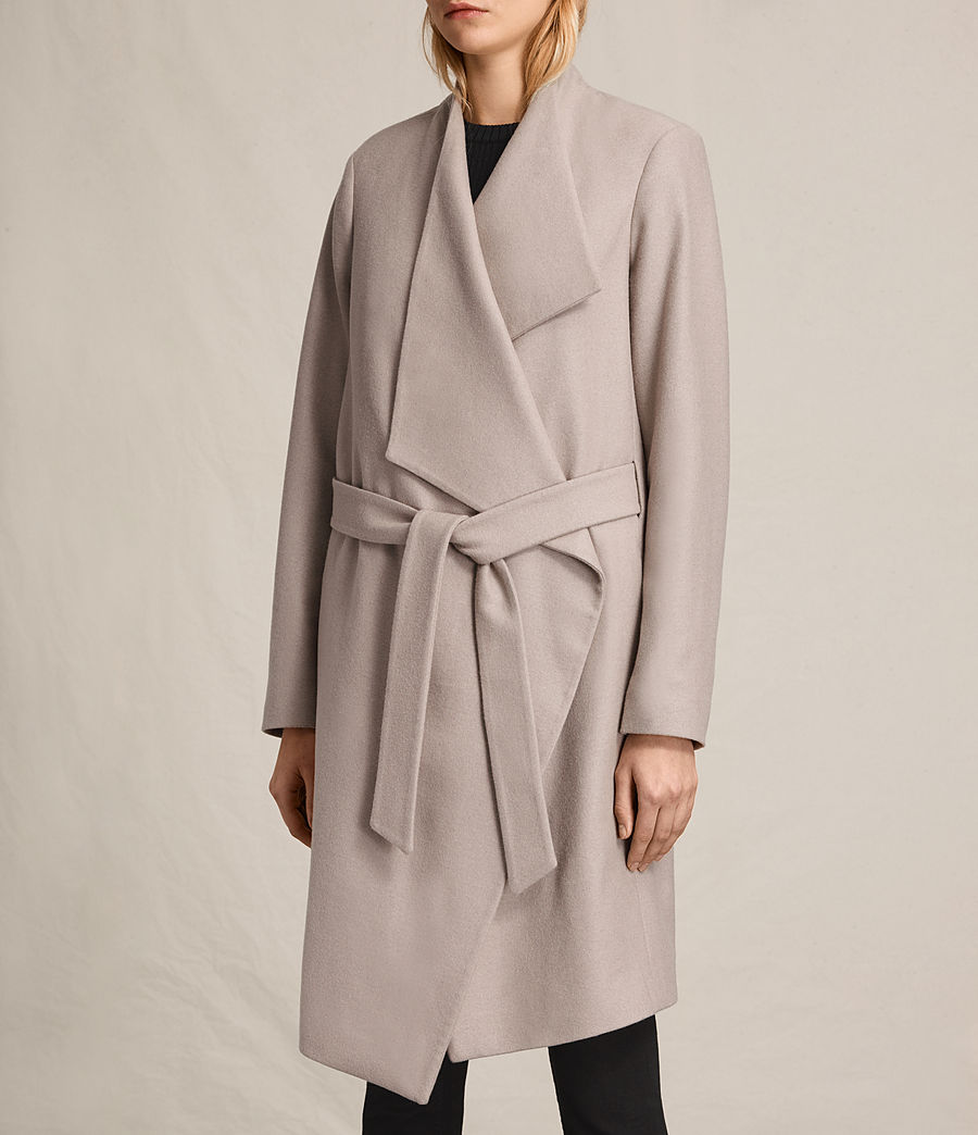 Womens Lora Coat (taupe) - Image 7
