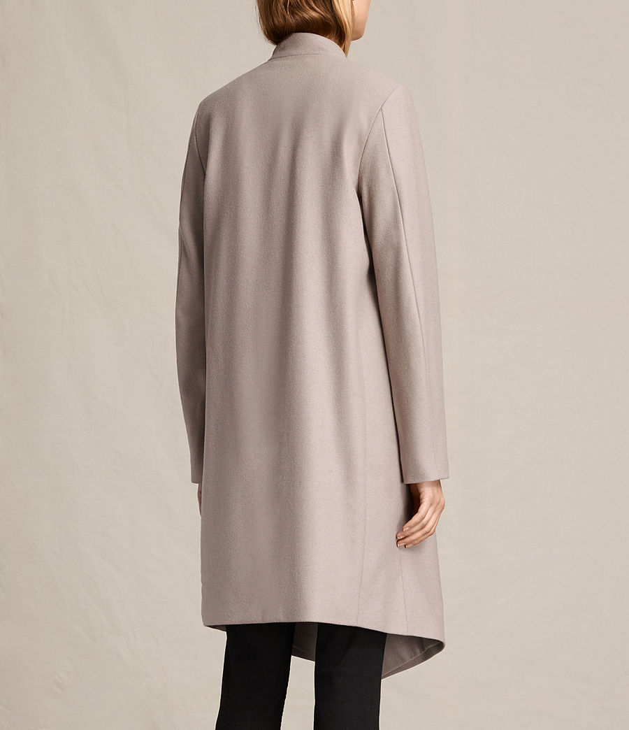Womens Lora Coat (taupe) - Image 8