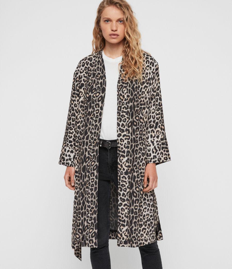 Womens Esme Leppo Kimono (leopard_yellow) - Image 1