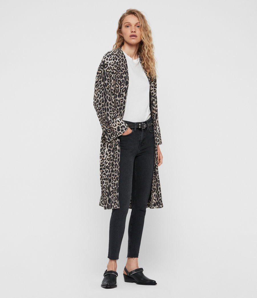 Womens Esme Leppo Kimono (leopard_yellow) - Image 2