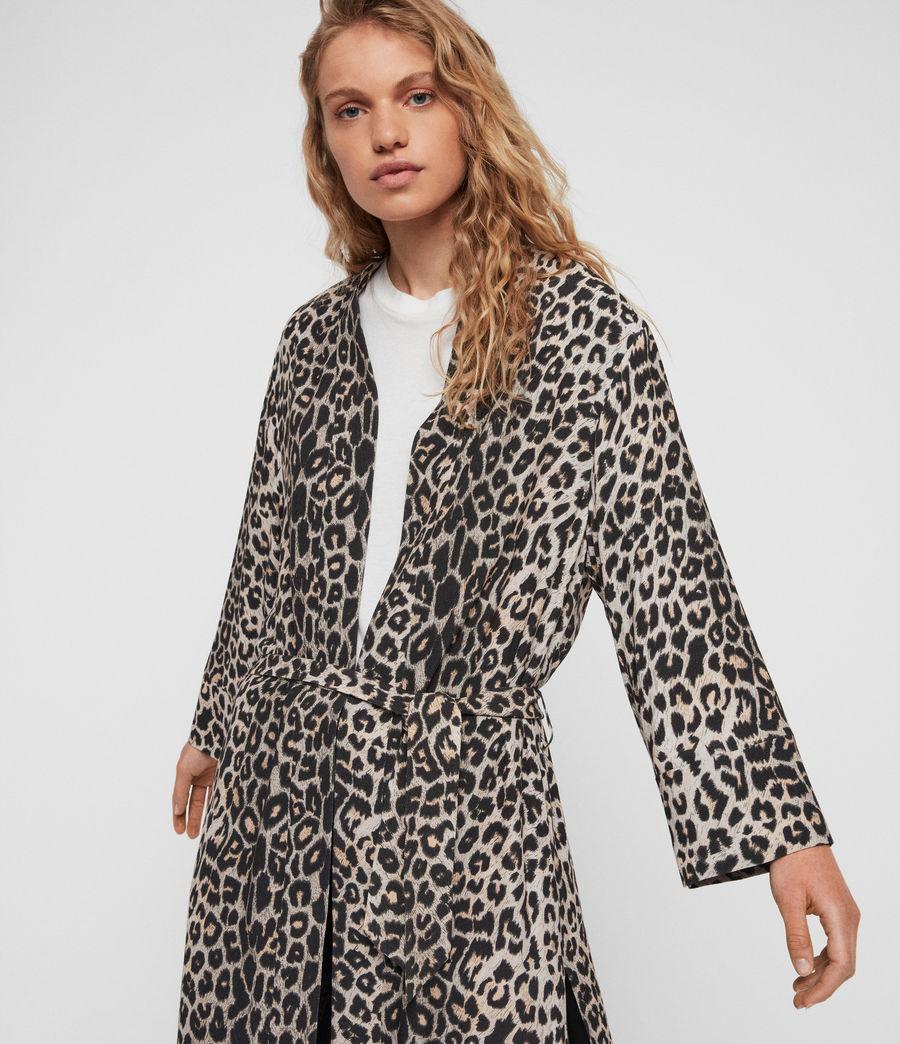 Womens Esme Leppo Kimono (leopard_yellow) - Image 3